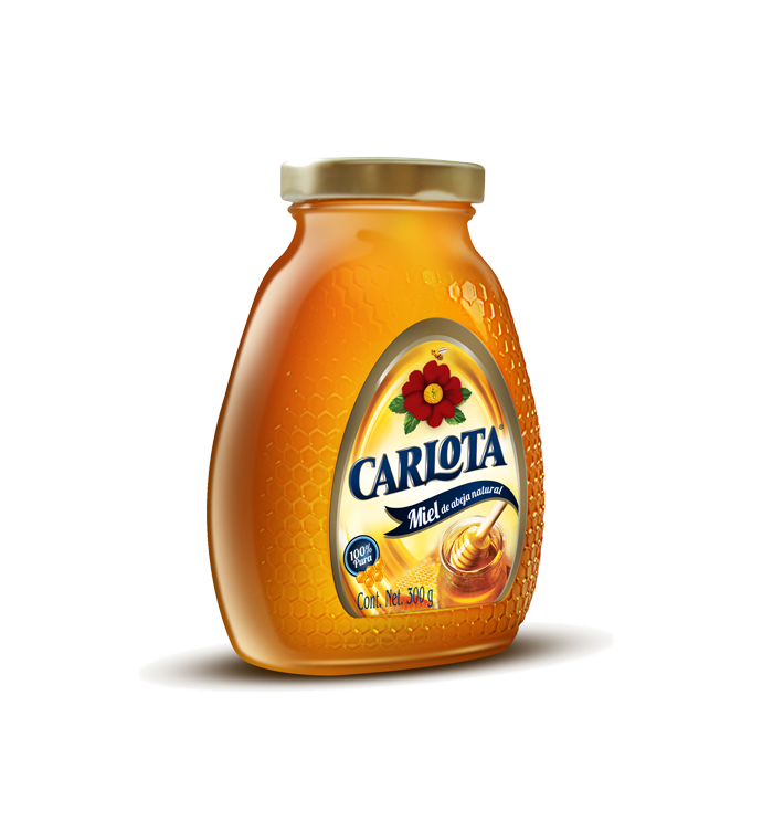 Miel Carlota - Envase de Vidrio de 300 Gr